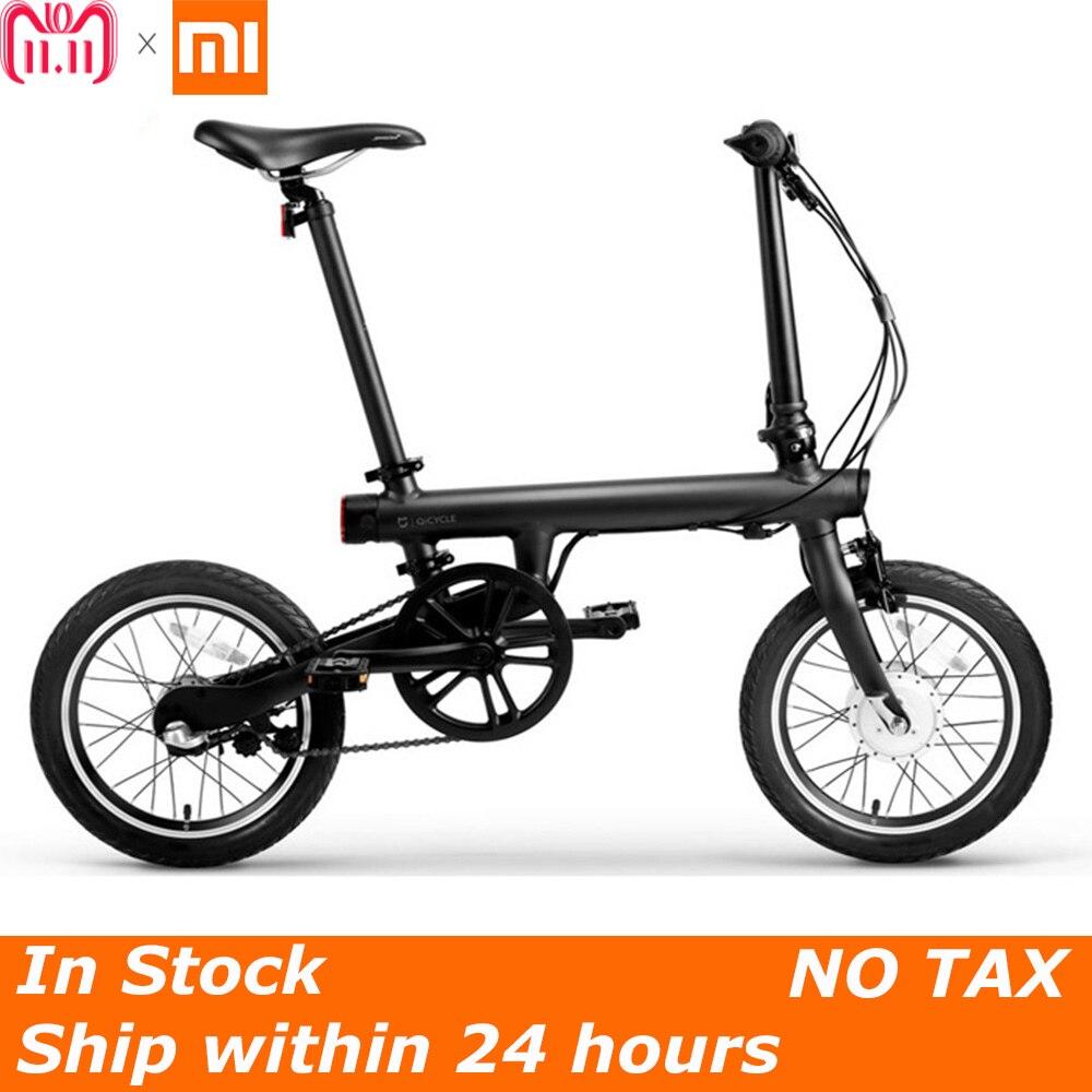 No hay impuestos 100% Original Xiaomi QiCYCLE-EF1 eléctrica plegable bicicleta Bluetooth inteligente bicicleta eléctrica 16 pulgadas Mini bicicleta APP