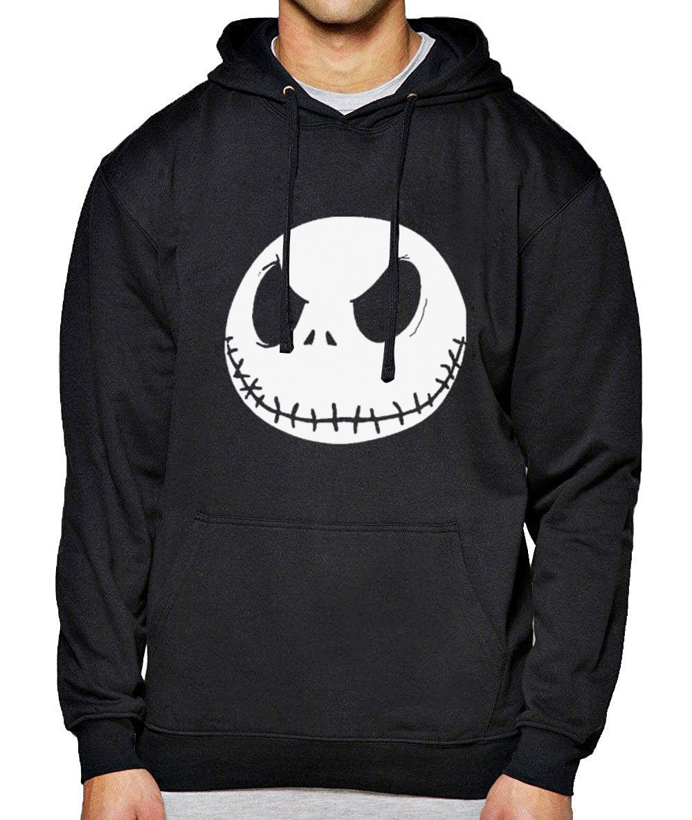 2019 Spring Winter Hoody For Male Jack Skellington Evil Face Print Funny Hoodies Men Hip Hop Harajuku Men's Sportswear Hoodie