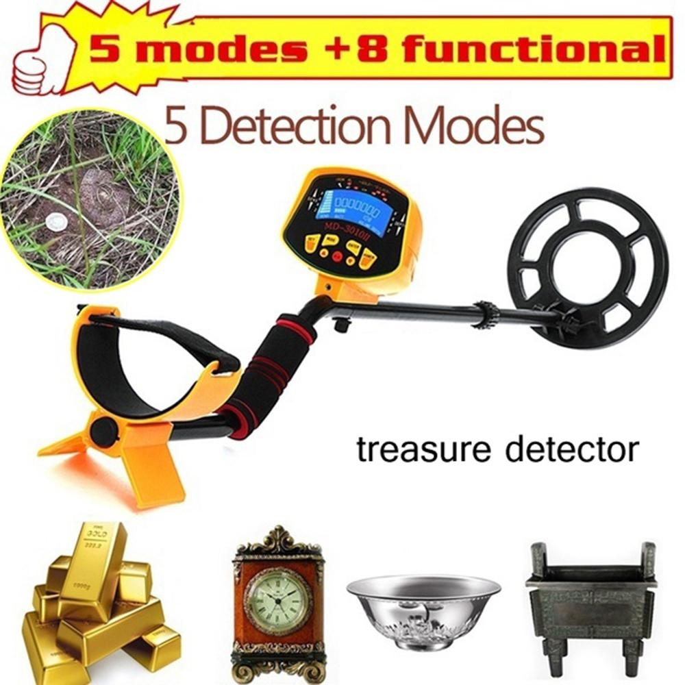 MD3010II Metal Detector Underground Professional Gold Metal Detector Sale MD-3010II LCD Display Pinpionter Treasure Hunter(China)