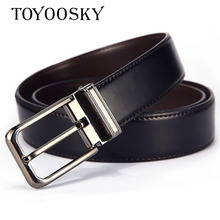 2018 New Arrivals Two colors Second Split leather men belt Cowhide strap for male belt Cow Genuine leather Pin buckle  TOYOOSKY fashionable men s head layer cowhide cow split leather waist belt brown