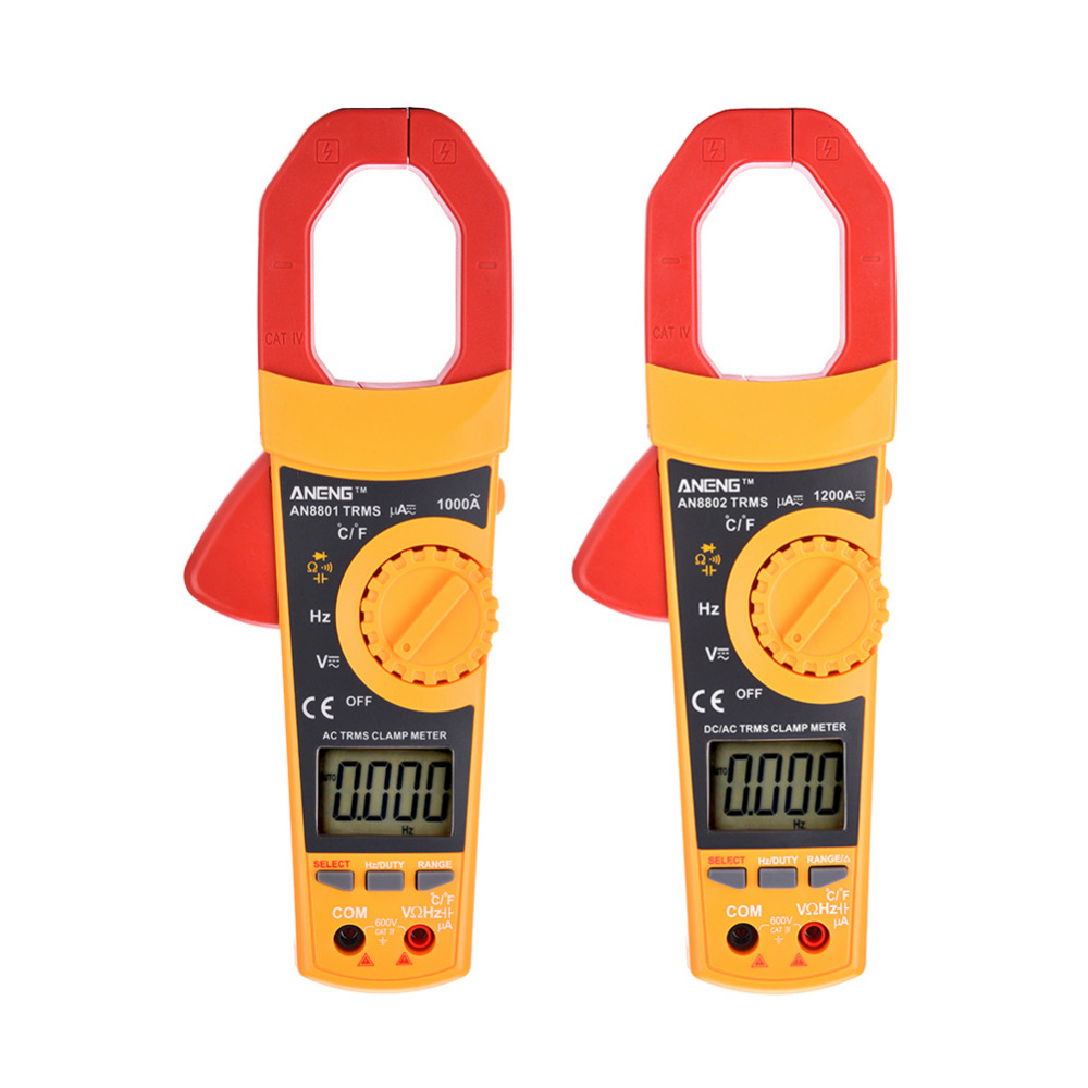 AN8801 LCD Digital Clamp Meter Multimeter With Temperature Measurement AC/DC Voltage Tester Current Resistance Multi Test  цены