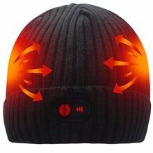 Новинка 7,4 В батарея с подогревом 3 уровня управления электрическим нагревом теплая шапка спортивная и Рождественская шапка вязаные шапки/шапки для женщин и мужчин