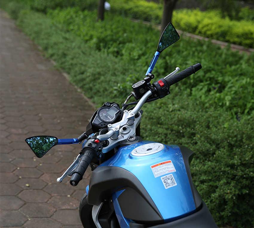 8 10 мм Универсальные зеркала для мотоциклов cnc Алюминиевые боковые зеркала заднего вида для benelli trk502 moto guzzi v7 Honda x-adv Suzuki DR 650