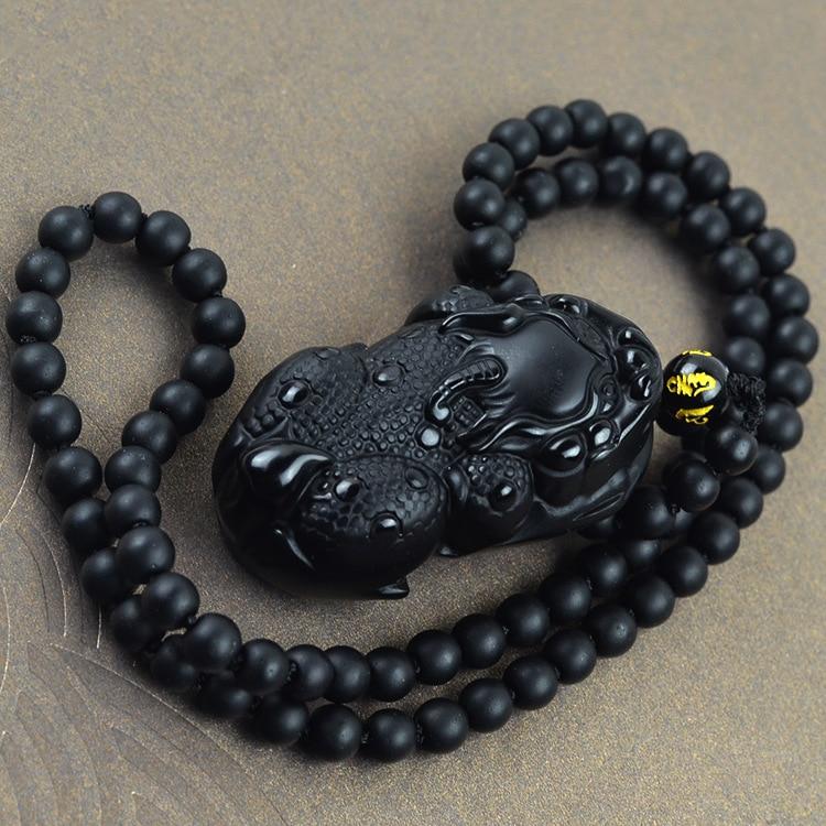55x45mm Natürliche Obsidian Einladenden Geld Für Die Tapferen Perlen Anhänger, feine Edelstein Obsidian Perlen Anhänger Charme Als Geschenke
