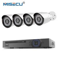 MISECU 4CH 1080P POE NVR Full HD 2 0mp Onvif PoE Camera Night Vision Outdoor HDMI