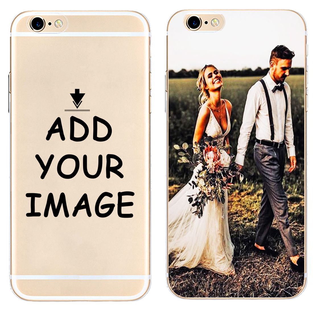 DK Customize your own picture DIY pattern images new Hard Phone Case Cover For iPhone 6 6S 7 8 Plus 5S 5C 4S X XS XR XSMax Coque in Half wrapped Cases from Cellphones Telecommunications