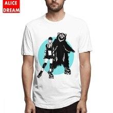 Roller Bear & Girl T-shirt Men's Quality Picture Custom T-Shirt Crewneck BONADIAO Tee Shirt