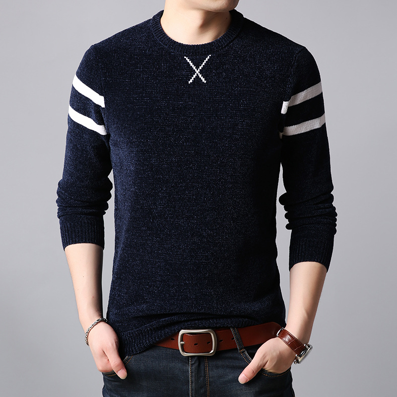 Mens Sweater Cashmere-Pullovers Wool Autumn Full-Sleeve Winter Thick Homme