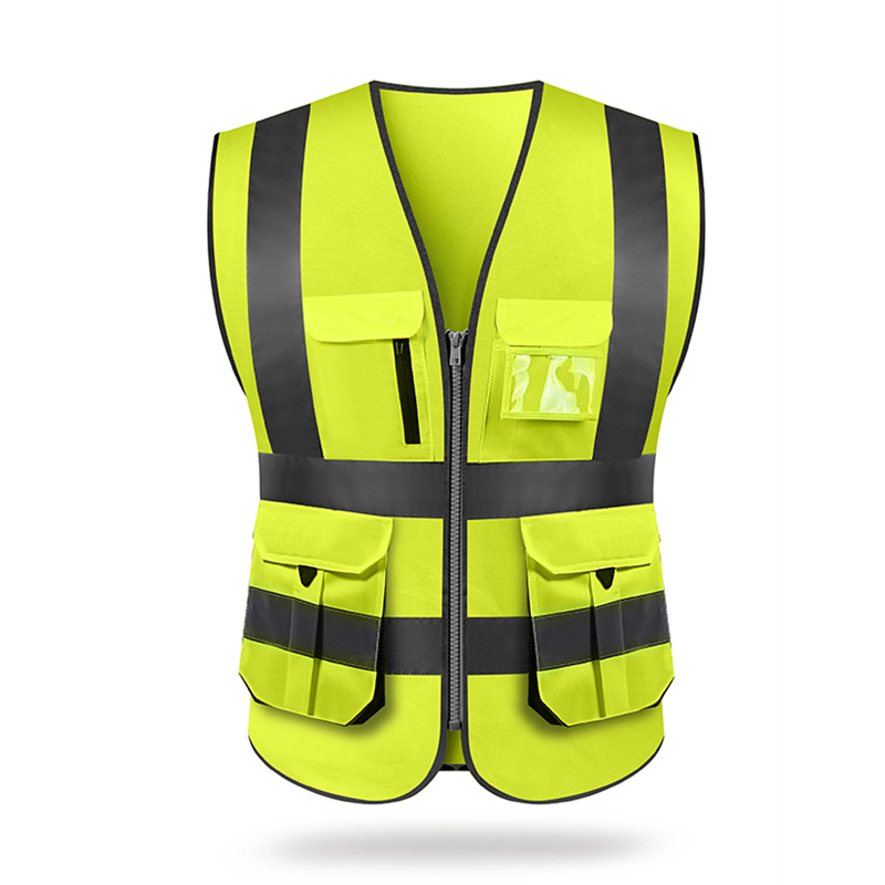 Reflective Vest Outdoor Riding Safety Sanitation Workers Clothing Traffic Car Vests High Visibility Fluorescent Yellow Coat