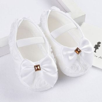 Girls Flowers Bow Baby Toddler Shoes 11cm 12cm 13cm Spring Autumn Children Footwear First Walkers print baby first walkers girls toddler shoes 11cm 12cm 13cm spring autumn children footwear