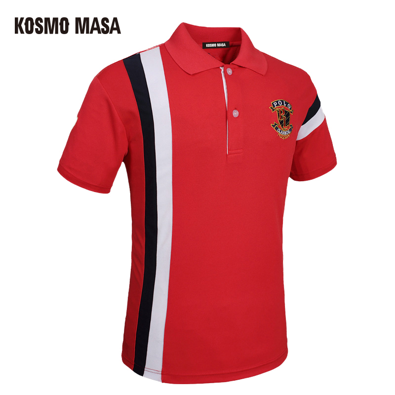 KOSMO MASA 2017 Quick Dry   Polo   Shirt For Men Turndown Collar Breathable Solid Casual Men's Jersey Short Sleeve Shirts PS0020