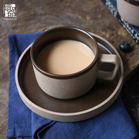 Coffee Cup Set Antique Handmade Ceramic Cup High grade Porcelain Cup Saucers
