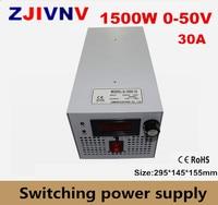CE approved SMPS Led adjustable switching power supply 0 50V 30A 1500W 110/220V ac to dc 50V 60V 72V 20A