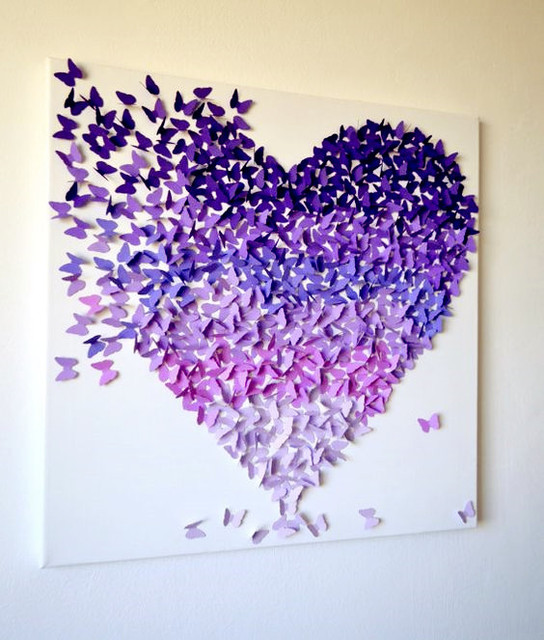 Happy Valentines Day 12Pcs 3D Butterfly Sticker Home Wall Decoration