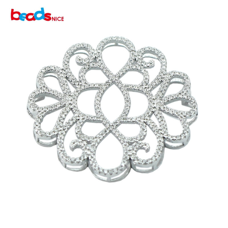 Beadsnice beaux résultats de bijoux en gros micro pave 925 pendentifs en argent pour bijoux de luxe collier faisant ID30137