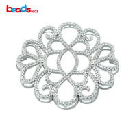 Beadsnice fine jewelry findings wholesale micro pave 925 silver pendants for luxury jewelry necklace making ID30137