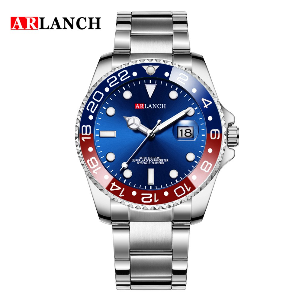 Men Luxury Watches Brand Rolexable waterproof fashion Simple Analog Quartz Wrist Watches Stainless Steel Band Watch Relogio-in Quartz Watches from Watches