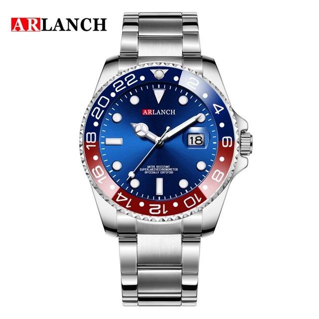 Men Luxury Watches Brand Rolexable waterproof fashion Simple Analog Quartz Wrist Watches Stainless Steel Band Watch Relogio