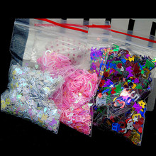 Nail Mix Sequins Glitter Confetti Colorful Flakes for DIY Crafts Nail Art and Makeup  Decoration Love Star Flower Design 15 Gram four angle stars shape nail glitter sequins for nail art decoration makeup facepainting nail gel manual diy crafts decoration