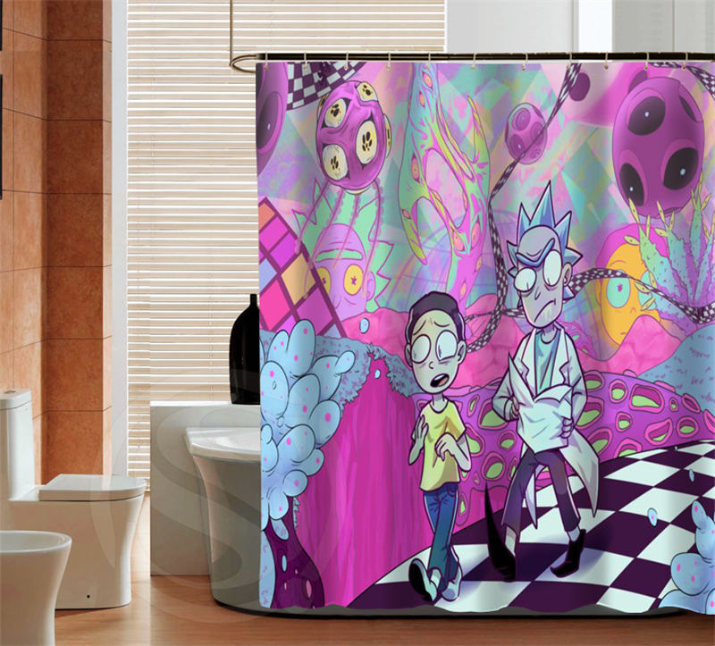 Fashion Rick And Morty High Quality Custom Shower Curtain Bathroom Decor Various Sizes Free Shipping MORE SIZE SQ0426 ZHH In Curtains From Home