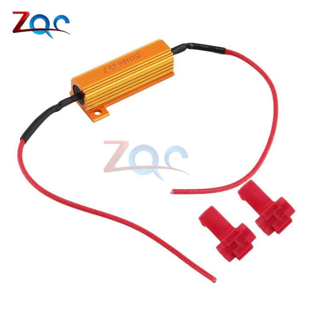 Beler 50w 6ohm Led Bulb Light Hyper Flash Blinker Blink Load Resistor Turn Signal Auto Daytime Running Lamp Car-styling Car Light Accessories