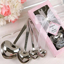 2pack/lot Love Heart Spoons Wedding Souvenirs Event & Party Supplies gift box spoon set (2015115)