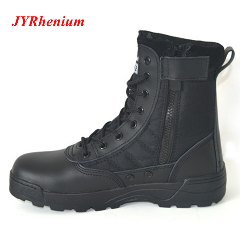 JYRhenium Men Hiking Shoes Professional Waterproof Leather Hiking Boots Tactical Boots Outdoor Mountain Climbing Sports Sneakers