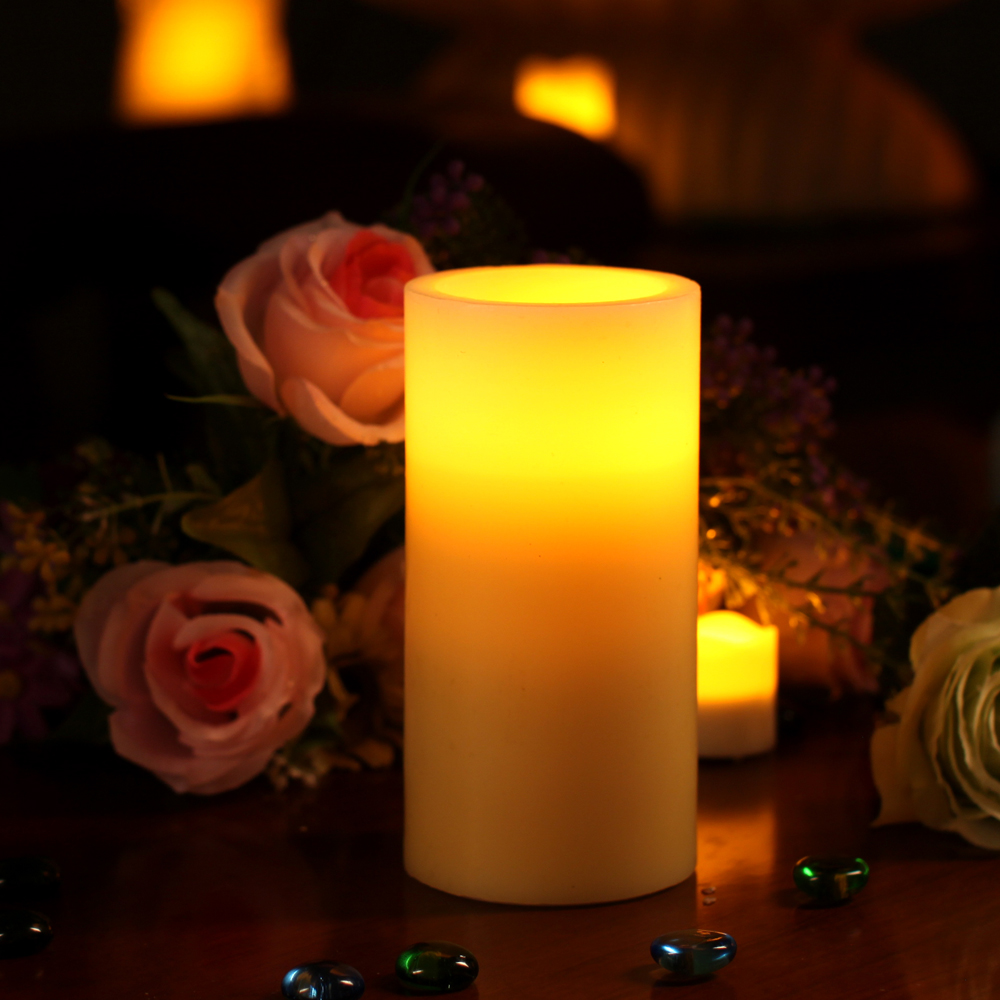 Flameless Candle Real Wax Led Candle Lights with 4 & 8 hours Timer ,Dual Color, Home Decorations,3 x 6 Inch  candles 8 hour   Relaxation Music – 8 HOURS Meditation Candle Flameless font b Candle b font Real Wax Led font b Candle b font Lights with