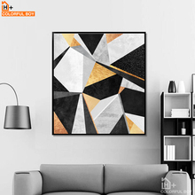 COLORFULBOY Modern Abstract Geometry Large Wall Art Posters And Prints Canvas Painting Wall Pictures For Living Room Home Decor