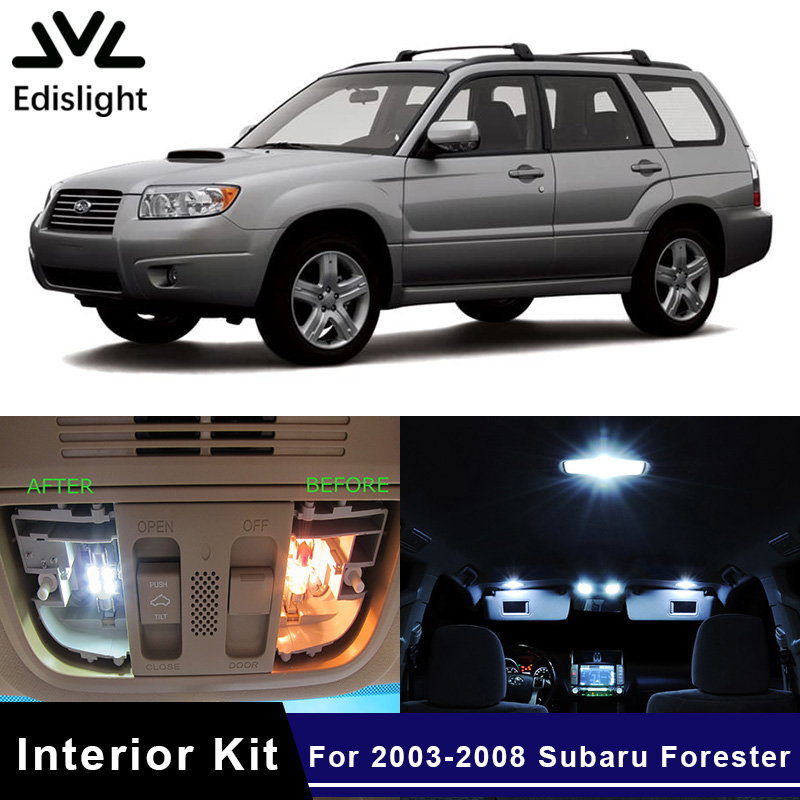 Car Interior Led Neon Lamp Light For Subaru Legacy Impreza Forester Xv Trezia Brz Wrx Levorg Outback 2008 2009 2010 2011 2012 Car Tax Disc Holders Exterior Accessories