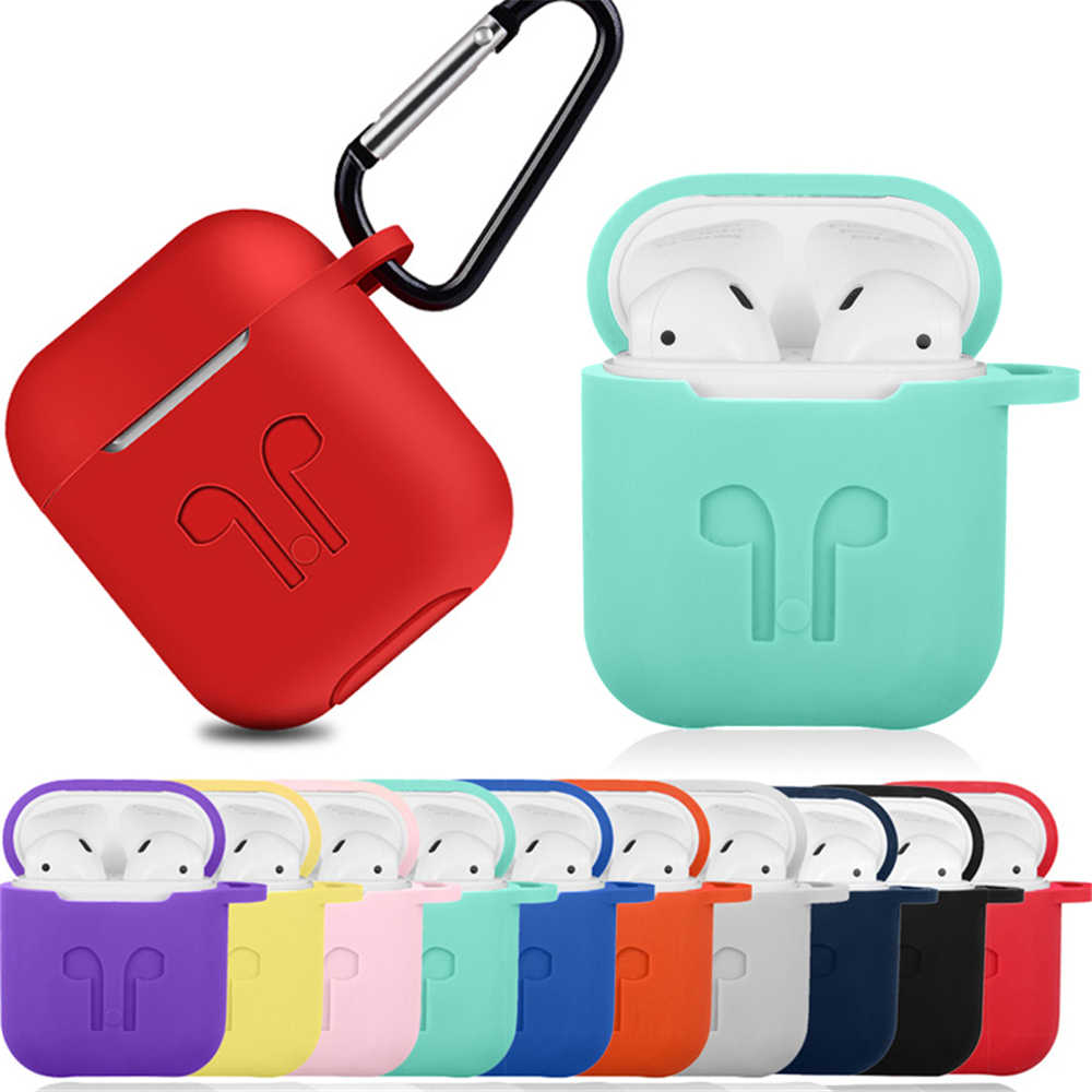 1Pc Silicone Case For Apple Airpods Protective Shockproof Cover For Apple Earphone Charging Case Protector Case for Air pods