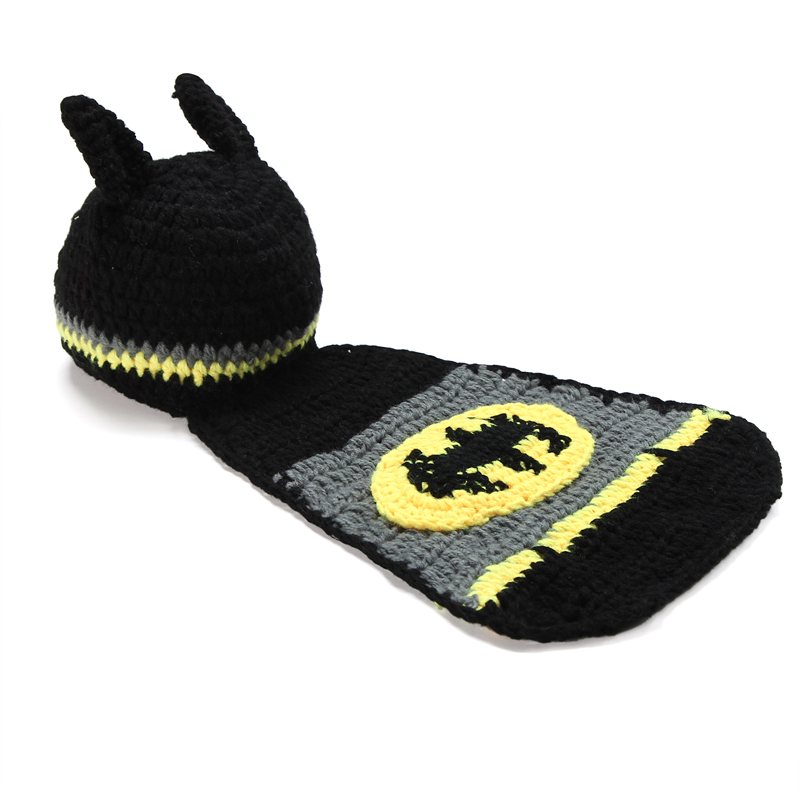 Batman hats beanie hat factory aliexpress buy newborn baby batman hat crochet pattern infant photography props costume set handmade dt1010fo