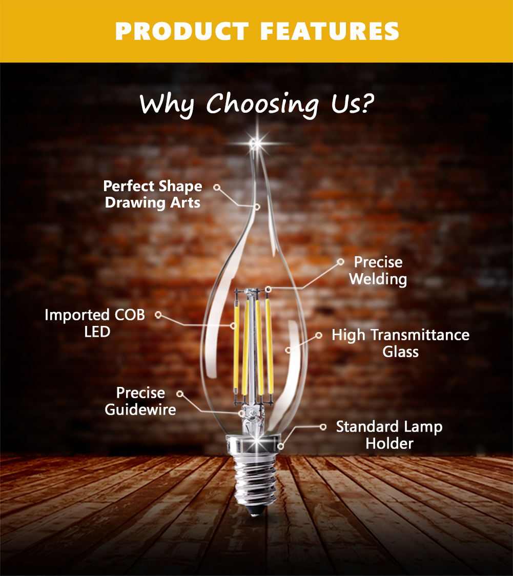 110V Dimmer Crystal celling LED Vintage Edison light Bulb C35 C35L E14 Lampada 220V 8W Bombilla Lamp Antique Retro Light Bulb