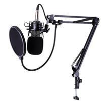 BM 800 Studio Live Streaming Broadcasting Recording Condenser Microphone Desktop Scissor Mic Stand Kit Sets XLR Cable