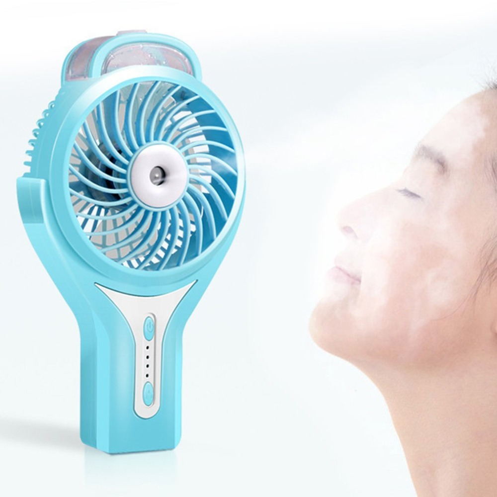 Portable Mini Cooling Fan Hand-held Humidifier Misting Fan Water Spray Fan Adjustable Air Cooler USB Rechargeable For Outdoor new dora fan promise speed control mini hand held portable charge usb blue mini fan