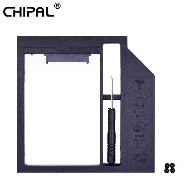 "CHIPAL Universal 2nd HDD Caddy 9mm SATA 3,0 para 2,5 ""9,5mm 7mm SSD caso disco duro caja de transmisión para ordenador portátil CD DVD ROM Optibay"