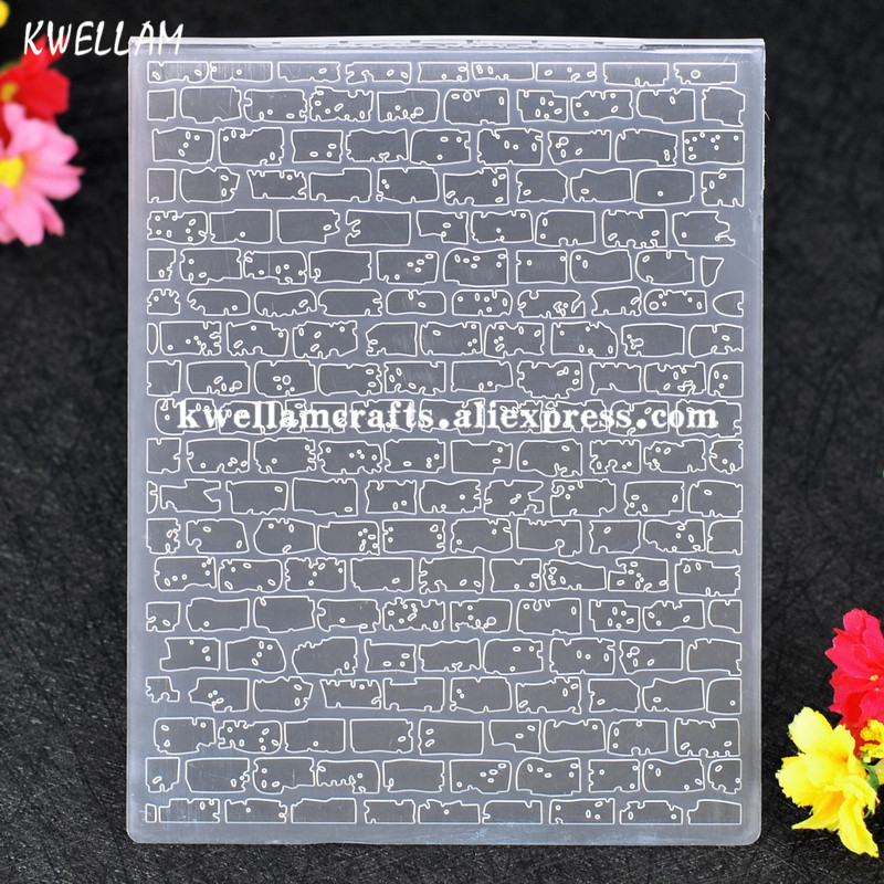 brick wall plastic embossing folder for scrapbook diy