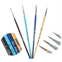 4 pcs/set Color Acrylic Uv Gel Pen Professional Nail Art Paint Drawing Brush Kit Nail Art Manicure Tool