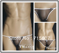 Free shipping! Tm male panties ultra-low-waisted slim hip silky male briefs 3002
