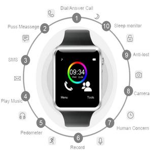 Image 4 - Fabrika A1 Kol Saati Bluetooth akıllı saat Erkekler Spor Pedometre Android Kamera Için SIM Kamera Smartwatch ile Rusya T15