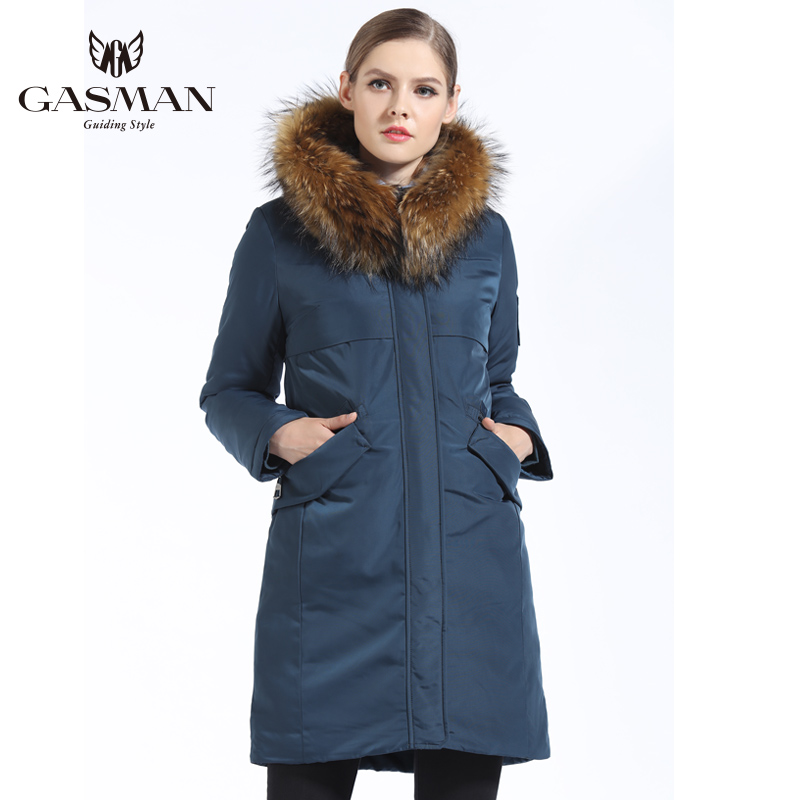 GASMAN 2018 Winter Women Hooded Down Parka Padded Casual Bio Down Jacket Brand Long Female Windproof