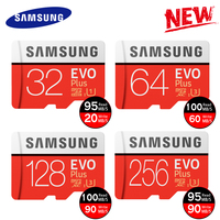 New Product Original SAMSUNG EVO Memory Cards 64GB EVO Plus 128GB 256GB Class10 Micro SD Card