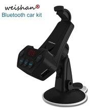 Weishan nuevo transmisor FM bluetooth manos libres kit de coche auto ayuda del jugador de MP3 AUX salida soporte para teléfono móvil con USB cargador