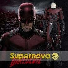 Movie Daredevil Cosplay Costume Daredevil Suit Adult Men Halloween Superhero Matt Murdock Cosplay Costume Outfit Custom
