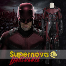 Movie Daredevil Cosplay Costume Daredevil Suit Adult Men Halloween Superhero Matt Murdock Cosplay Costume Outfit Custom Made