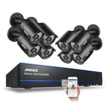 Annke 8CH оповещение по электронной почте наблюдения комплекты 1080 P AHD DVR 8 шт. 2.0MP 3000TVL ИК ночного видения безопасности Камера видео системы видеонаблюдения