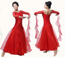 S-XXL Ballroom Dance Dress  hot Black Red Rosy WomenLady Clothing cha-cha Competition dress Modern Dance For Tango waltz  Skirt