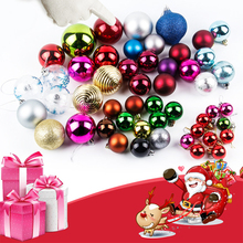 1 Box Christmas Decoration Balls Mixed Color Xmas Tree Hanging Ornament Pendant Wedding Party Decor # 35627