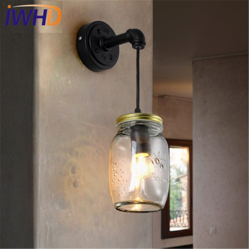 Led Indoor Wall Lamps Aspiring Retro Bedroom Vanity Edison Wall Lamp Fixture Sconce Black/white Bedside Lighting Fixtures Loft Wall Lights Led Indoor Lighting