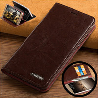 ND06 genuine leather flip case cover for Huawei Nova 2 Plus(5.5') phone case with card slots free shipping